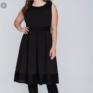 Lane Bryant Fit and Flare Scuba Dress Size 18